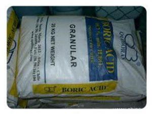 Boric acid products